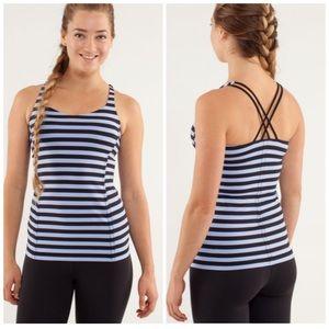 LULULEMON l Free To Be Tank Sea Stripe Blue